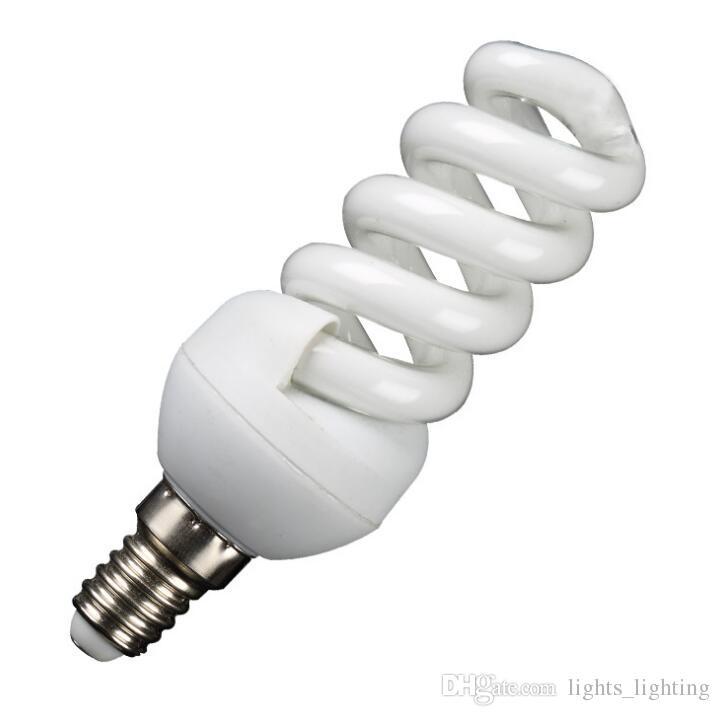 Mini Mini caracol E14 venda direta da fábrica três cores primárias lâmpada de poupança de energia parafuso boca baioneta bulbo luz amarela branco luz energia