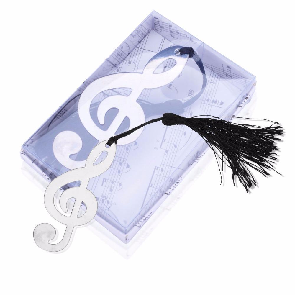 10 Pçs / set Música Notação Bookmarks Recuerdos Para Bautizo Baby Shower Lembranças Favores Do Partido Favores Do Casamento e Presentes Para Convidado