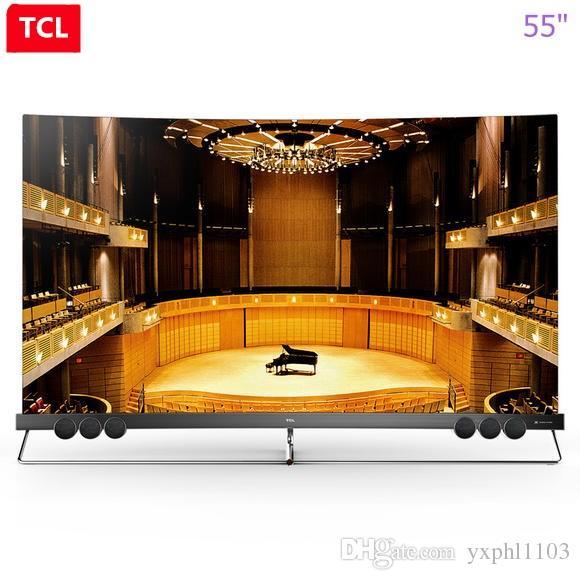 TCL da 55 pollici proto-quantum dot schermo curvo pieno HDR ecologica intelligente HD Ultra libera il trasporto 4K curva TV!