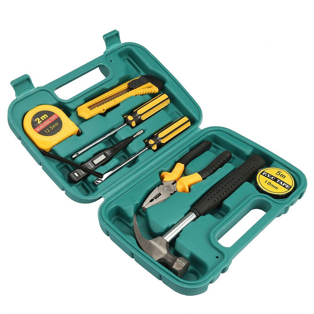 Freeshipping Multifunktionale 9 in 1 Hardware Auto Notfall Kit Set Hammer Schraubendreher Messerschlüssel Zange Reparatur Handwerkzeuge