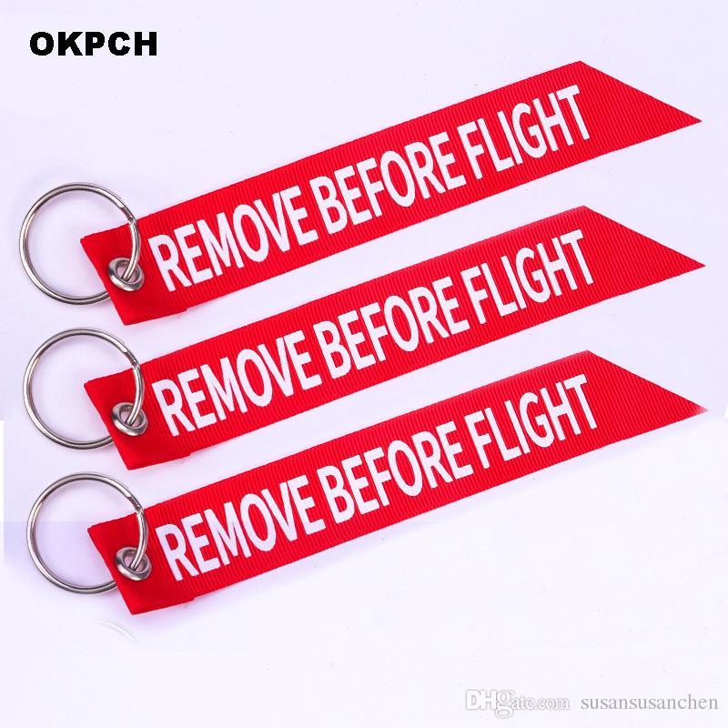 Uçuş Motorunu Çıkarmadan Önce Motosiklet Streamer Anahtarlık Kırmızı Anahtarlıklar