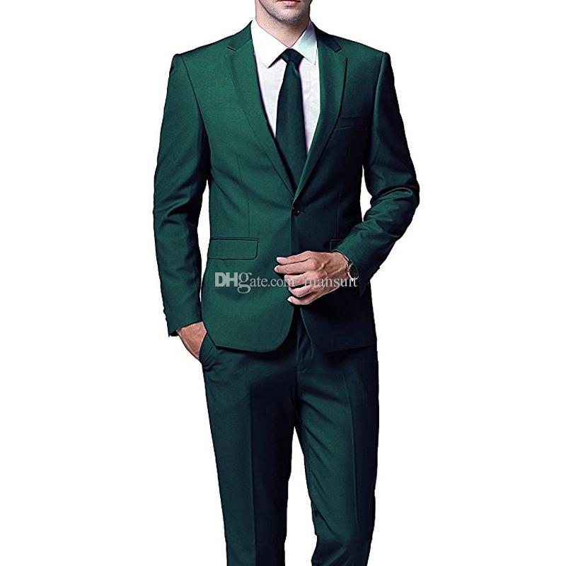 Custom Made Groomsmen Notch Lapel Groom Tuxedos One Button Men Suits Wedding/Prom Best Man Blazer/Bridegroom ( Jacket+Pants+Tie ) M479