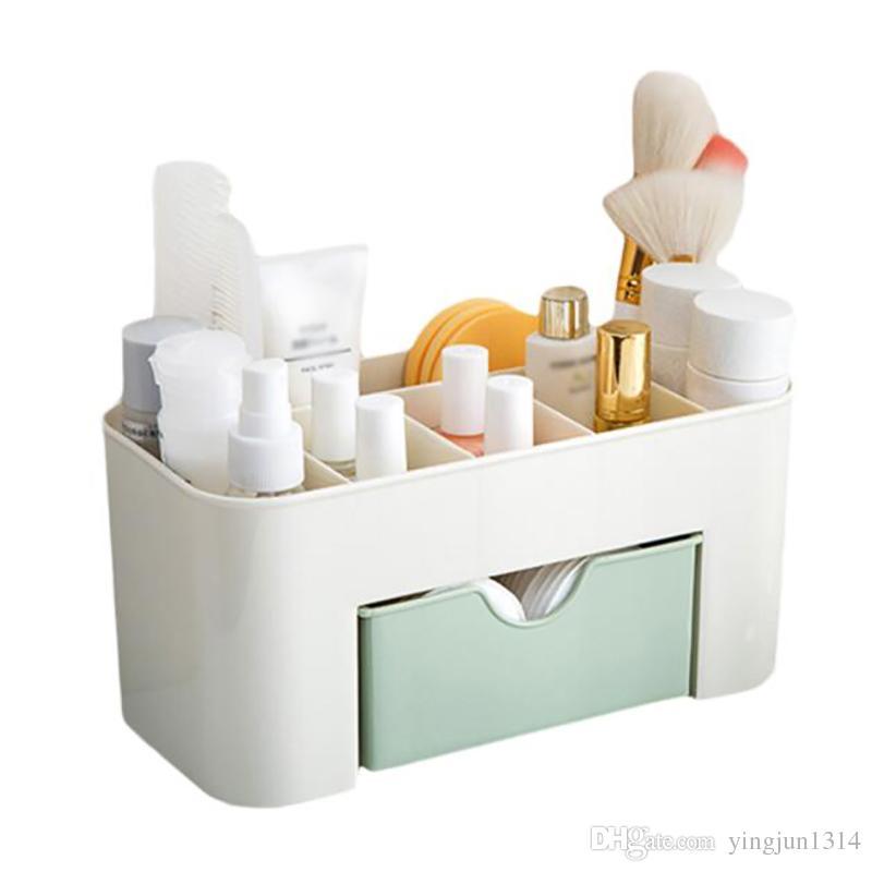 Maquillaje Organizador de la caja Collar de la joyería Pendiente de esmalte de uñas Caja de almacenamiento de plástico Inicio Organizador de escritorio Para los cosméticos
