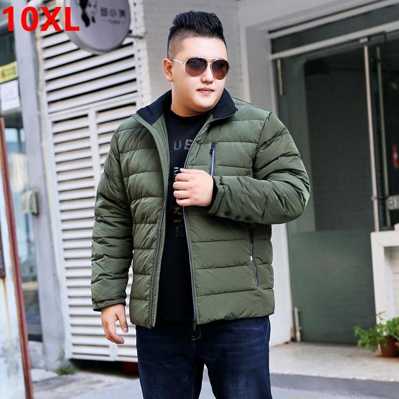 Casaco de inverno dos homens de grande porte 2017 novo tamanho grande aumento de gordura homem solto mangas compridas dos homens jaqueta