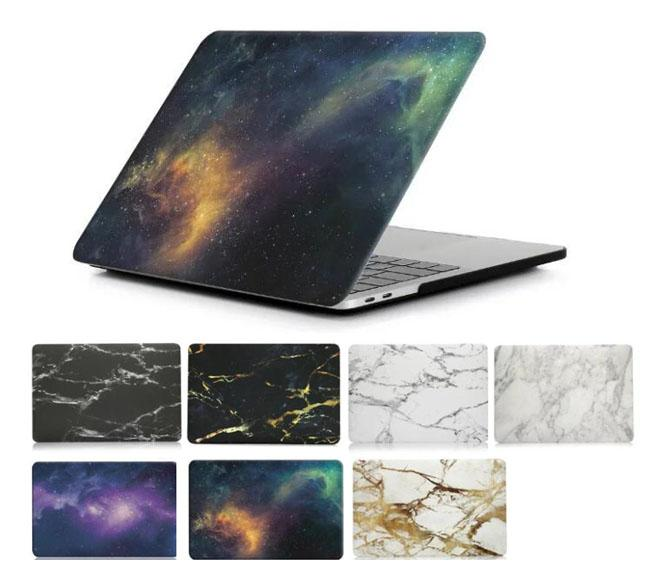 Nuevo estuche rígido Marble Starry sky Galaxy o 2018 Nuevo Macbook 13.3 Air Pro Touch Bar 15.4 Pro Retina Laptop Fundas protectoras completas