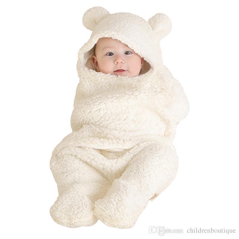 Newborn Baby Sleeping Bag Blanket Thermal Swaddling Berber Fleece Baby Swaddle Wrap Infant Envelope Stroller For Toddlers Baby Sleeping Bag