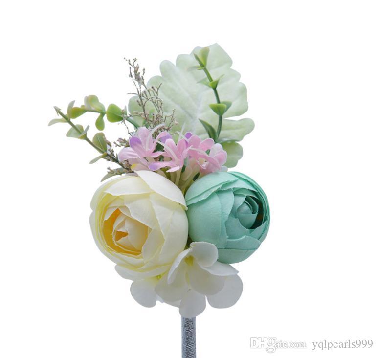 La nouvelle mariée de Sen, poignet, satin, fleur, décoration, boîte-cadeau, imitation de fleur.
