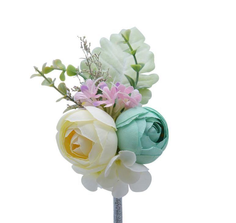 La nuova sposa di Sen, il polso, il raso, il fiore, la decorazione, la scatola regalo, il fiore d'imitazione.