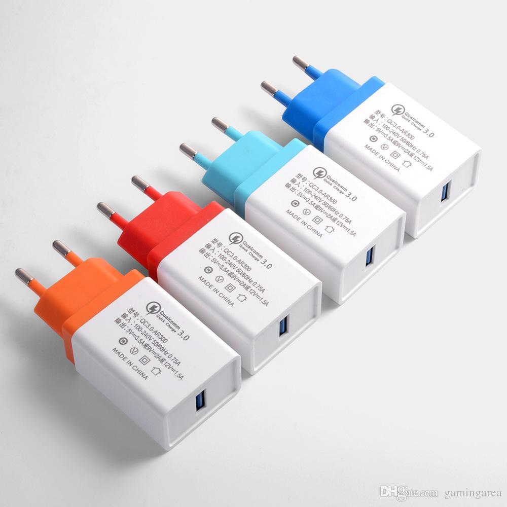 Charge rapide QC 3.0 Smart Téléphone Mobile Charge Rapide Chargeur USB Adaptateur Tête pour Android Samsung Xiaomi 5 Huawei LG Haute Qualité RAPIDE SHIP