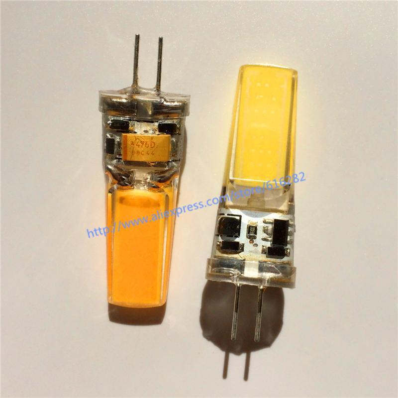 2018 ¡Caliente! Súper brillante G4 COB AC12V DC12V 3W bombilla Reemplace para la lámpara de cristal de la lámpara del proyector del LED 360 grados 10pcs / lot