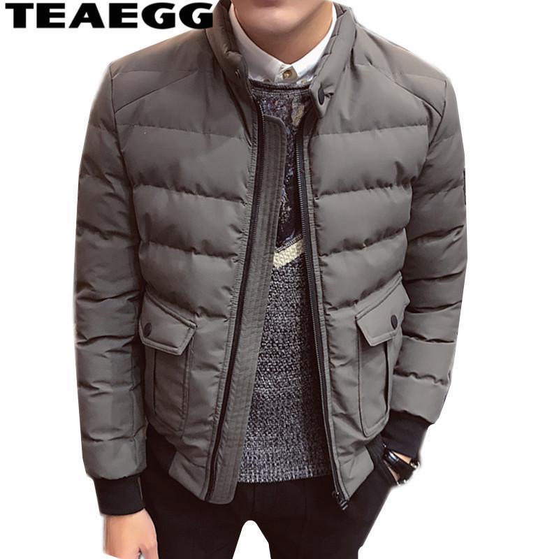 TEAEGG Uomo Parka Homme Inverno Jaket Uomo 2018 Chaquetas Hombre Invierno Plus Size 4XL Casual Autunno Inverno Cappotto Per AL1496