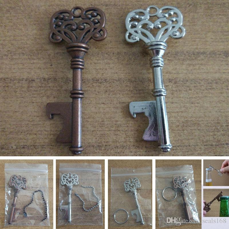 Portachiavi apri dell'annata per Bottiglia di birra metallo Coca Can Opening Tool con anello e catena Linea Kitchen Bar Strumento HH7-984