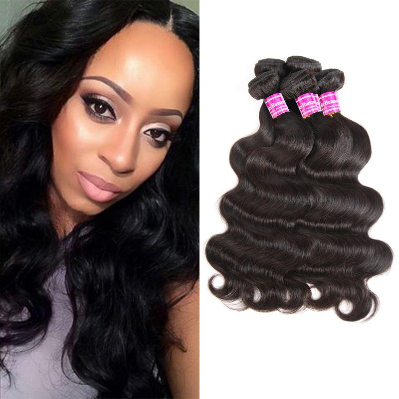 Tanie Brazylijskie Dziewicze Human Human Hair Paundles Hot Sprzedaży Ciało Fala Remy Ludzkie Włosy Uwagi Bulk Peruwiański Włosy Extension Wefts Cena hurtowa