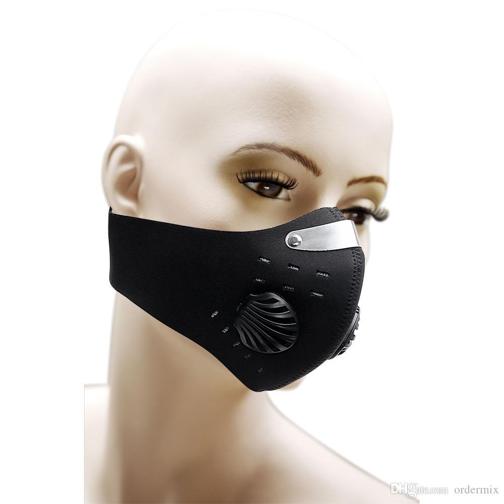 التروس الواقية نصف غطاء الوجه قناع دراجة نارية مع مرشح المضادة للتلوث PM2.5 الغبار والدليل على العالمي جودة عالية أسود