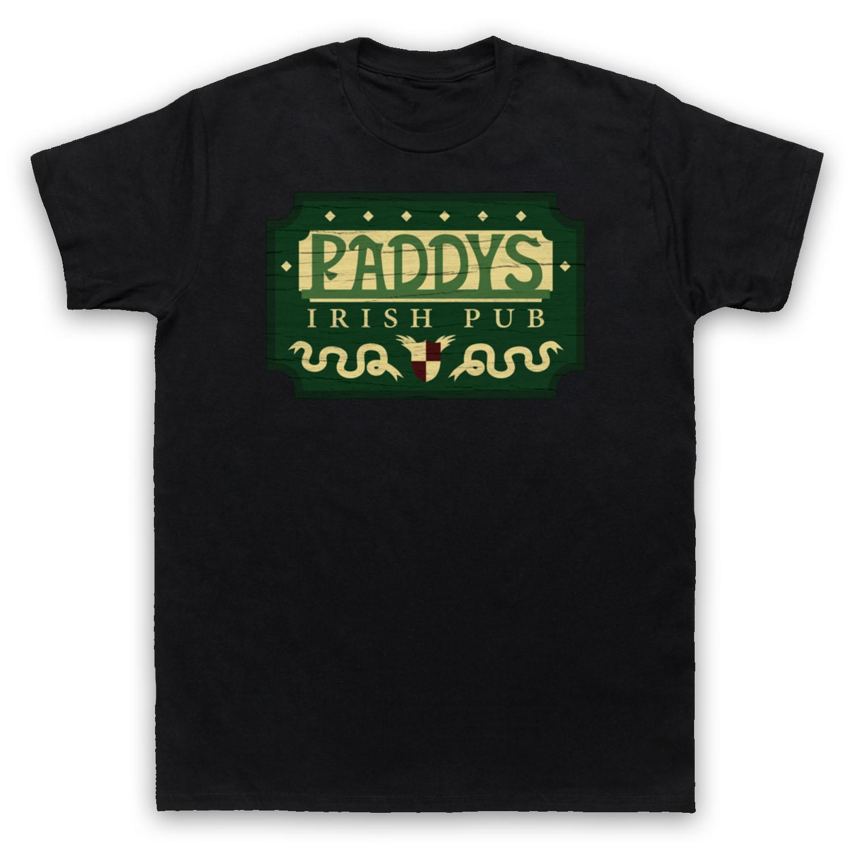 Paddy's Irish Pub Sign Cool Drinking Bar Mens Womens Kids T-shirt Cool Short Sleeve Men T Shirt Cartoon Character