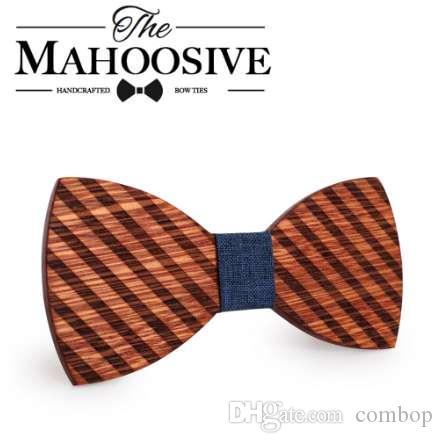 Mahoosive النقش الخشب القوس العلاقات للرجال الدعاوى الزفاف القوس التعادل فراشة شكل bowknots gravatas سليم عنق