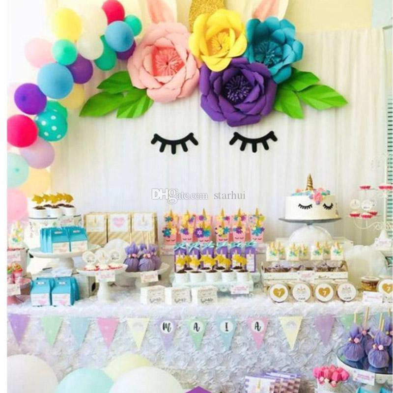2Pcs/Set 20cm Wedding Decoration Paper Flowers DIY Birthday Party Artificial Flower Home Baby Room Backdrop Ornament Supplies WX9-607