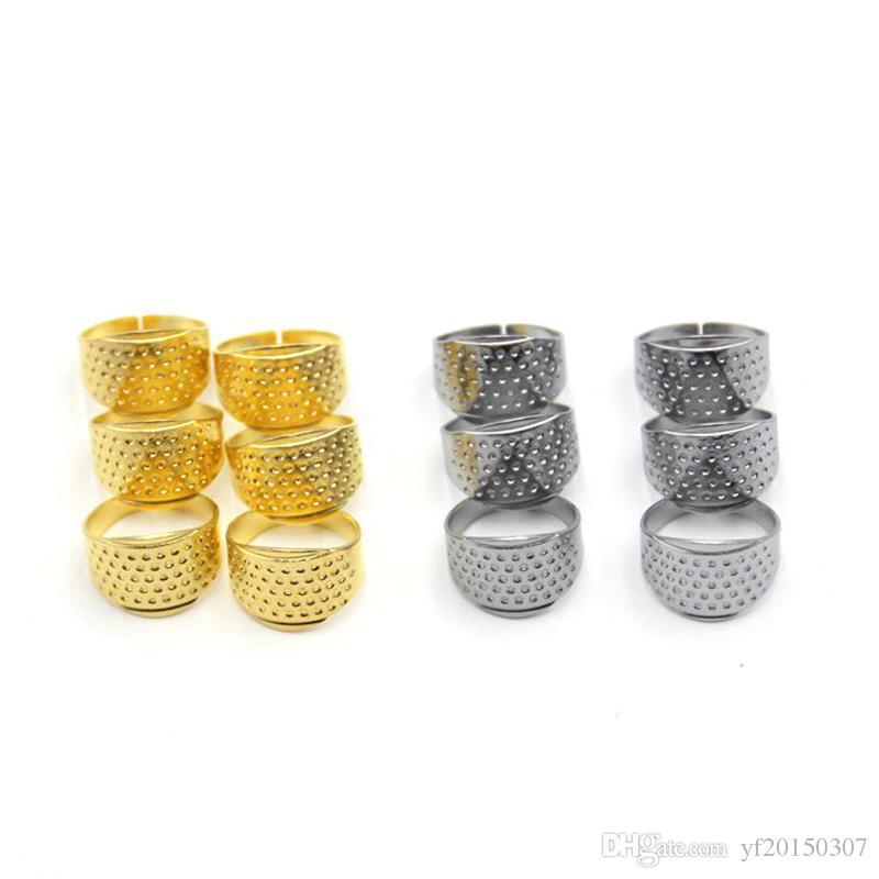 4PCS Berrywho Costura dedal Dedo del Protector de Dedo Ajustable Escudo Anillo del Dedo del dedal de Coser para la Costura Bordado Knitting acolchar
