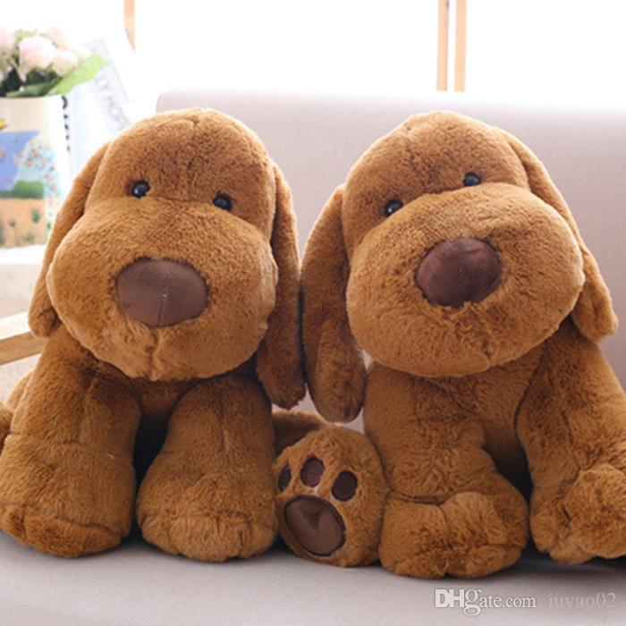 Karikatur-nette braune Hundepuppe-Plüsch-Spielzeug-Ausgangsdekoration langohriger Hundplüsch-Puppe-Freundin-Kinderfeiertags-Geburtstagsgeschenk Großhandel