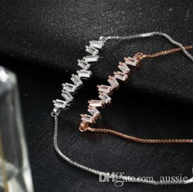 17 KM Marke Mode Blume Zirkonia Charme Armband Für Frauen Armreif Pulseras Mujer Weibliche Party Hochzeit Schmuck