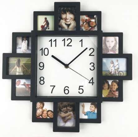 Новый DIY настенные часы современный дизайн DIY фоторамка часы пластиковые художественные фотографии часы уникальный клок домашнего декора Horloge
