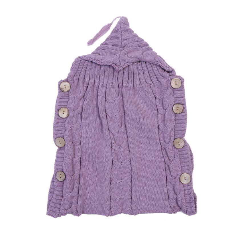 Baby Winter Sweater Blanket Baby Swaddle Wrap Newborn Infant Girls Boys Knitting Crochet Cotton Blended Sleeping Bag