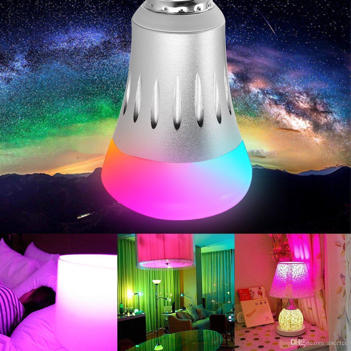 المصباح LED الفانوس الذكي اليكسا لمبة الإضاءة عاكس اللون RGBW يعمل لمبة الأنوار مع Echo Alexa