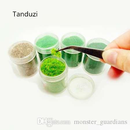 Model Çim Kaşmir Toz Yeşil Sahte Çim Peri Bahçe Minyatürleri Kil Diy Yapay Kum Masa Mikro Peyzaj Yapı