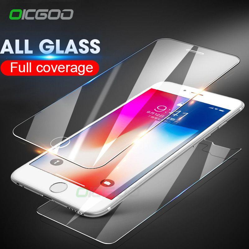 Vorne und Hinten 2 STÜCKE Gehärtetes Glas Für iPhone X 6 6 s 7 8 Plus 5 5 S SE Displayschutzfolie Für iPhone 7 8 6 s Rückglas