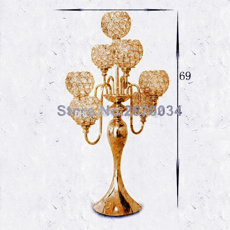 Düğün için kristal boncuklu düğün koridor ayağı masa centerpieces dekor yeni