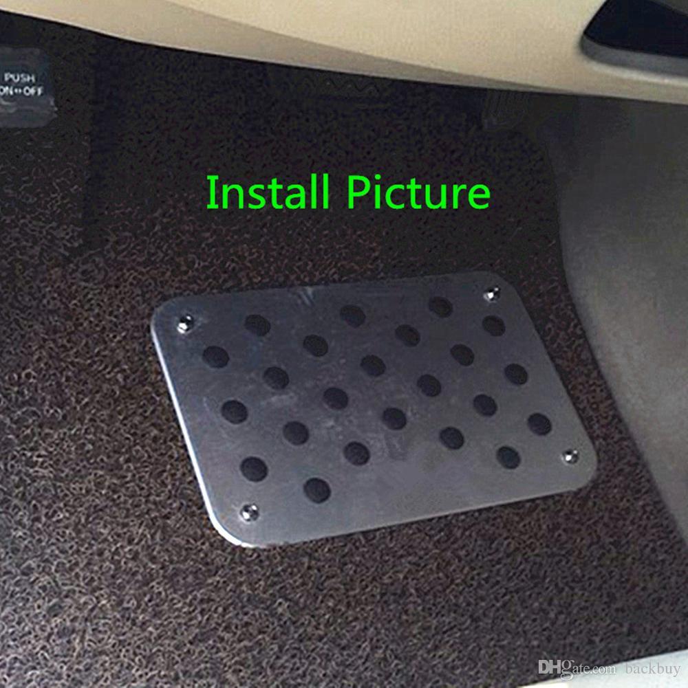 الألومنيوم CAR ANTI-SKID FOOT الحصير CARPET MAT PAD DIY تزيين يناسب ALL CARS TRUCK قطاع الطرق FOOTMAT RESTPAD عالية الجودة 30 * 20 * 0.3CM