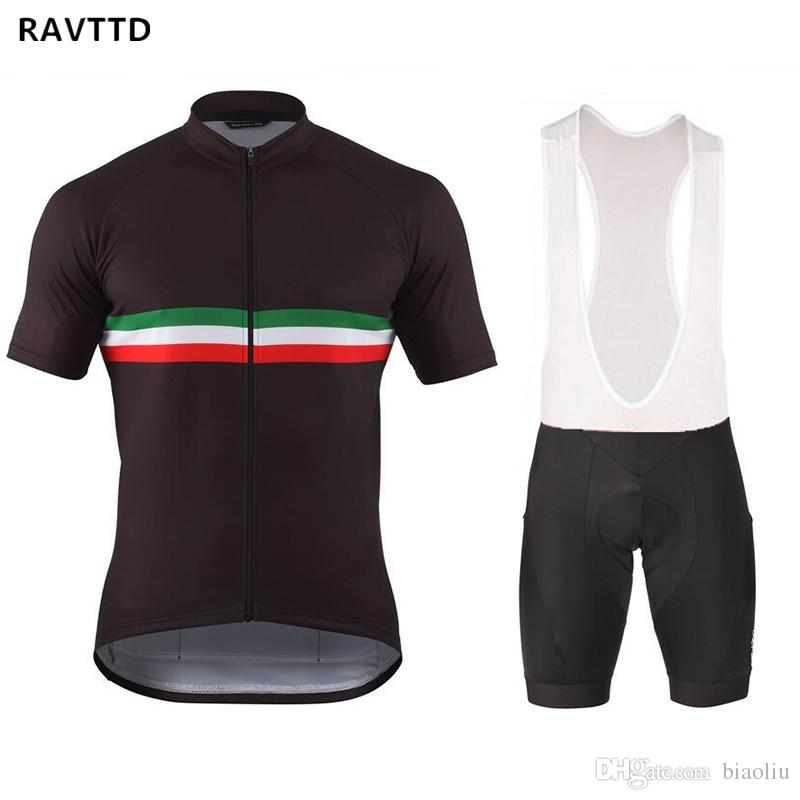 2018 RAVTTD Short Sleeves Cycling Jersey and bib shorts kits Ropa ciclismo hombre ciclismo maillot Mountain Bike Bicicleta For Summer