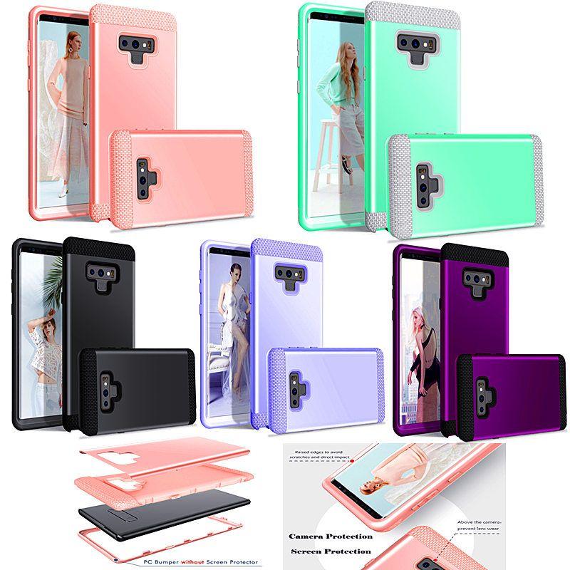 Hibrid Defender Sağlam Darbe 3 1 Darbeye Ağır Zırh Hard Case iPhone XS için MAX XR 6 6 S 7 8 Artı Samsung Galaxy S9 Artı Not 9