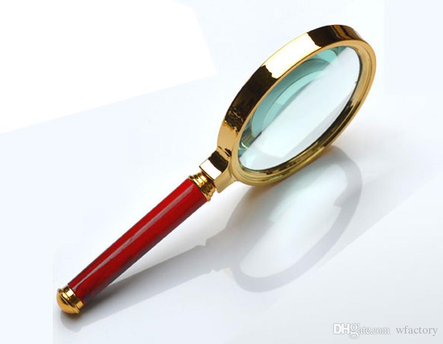 10X Handheld Magnifier Mapa Jornal Leitura Lupa Lens Jóias Loupe Tools - Lupas de bolso destacáveis Lupas