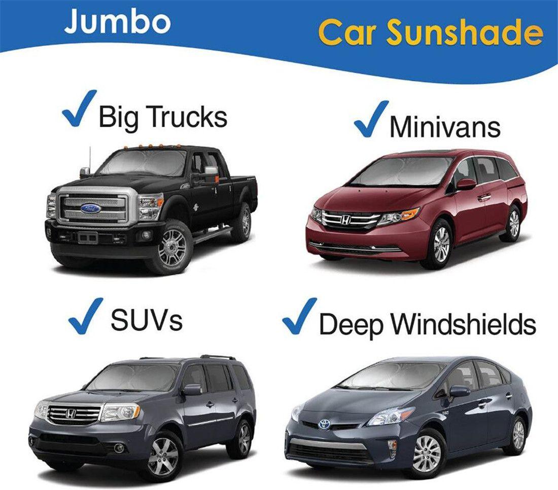 Folding Extra Large Windshield Sun Shade Car Truck SUV Van Window Visor