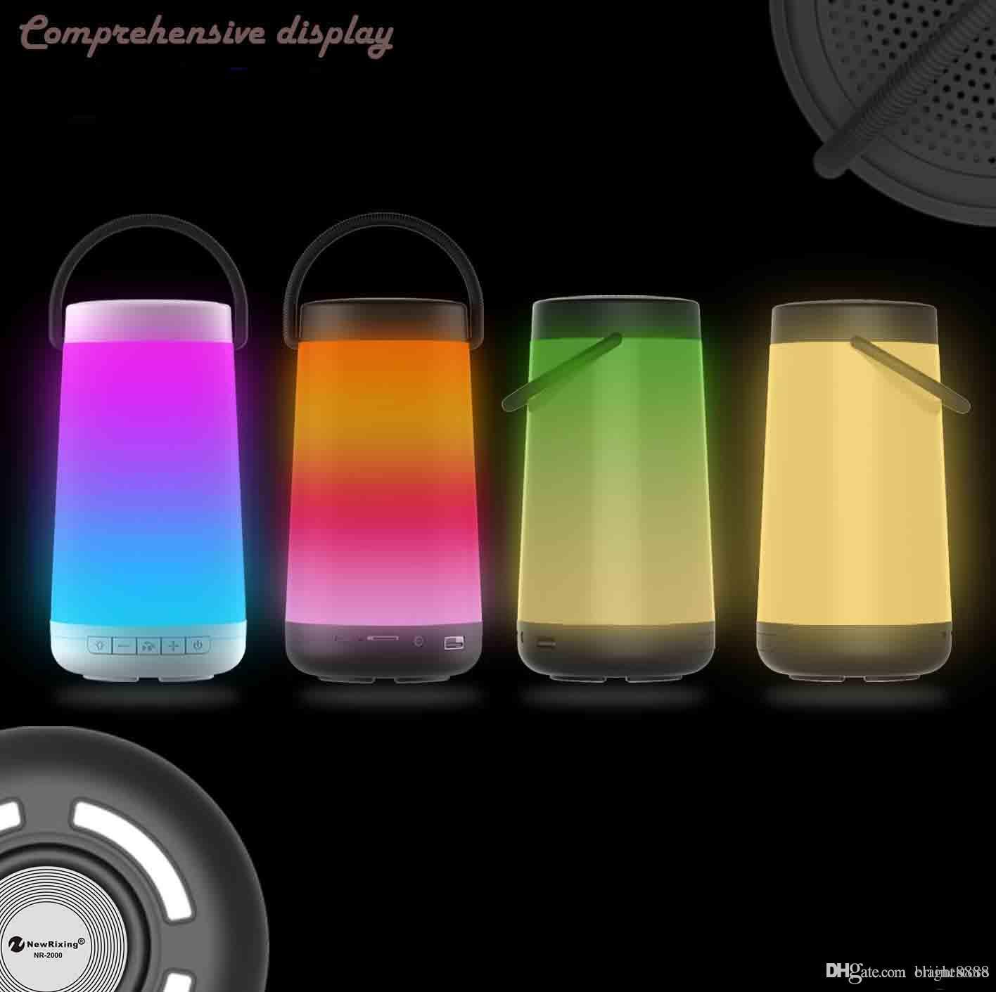 Explosion kreative Bunte LED flamme lampe atmosphäre drahtlose Protable Bluetooth lautsprecher fackel A1 klingen neue