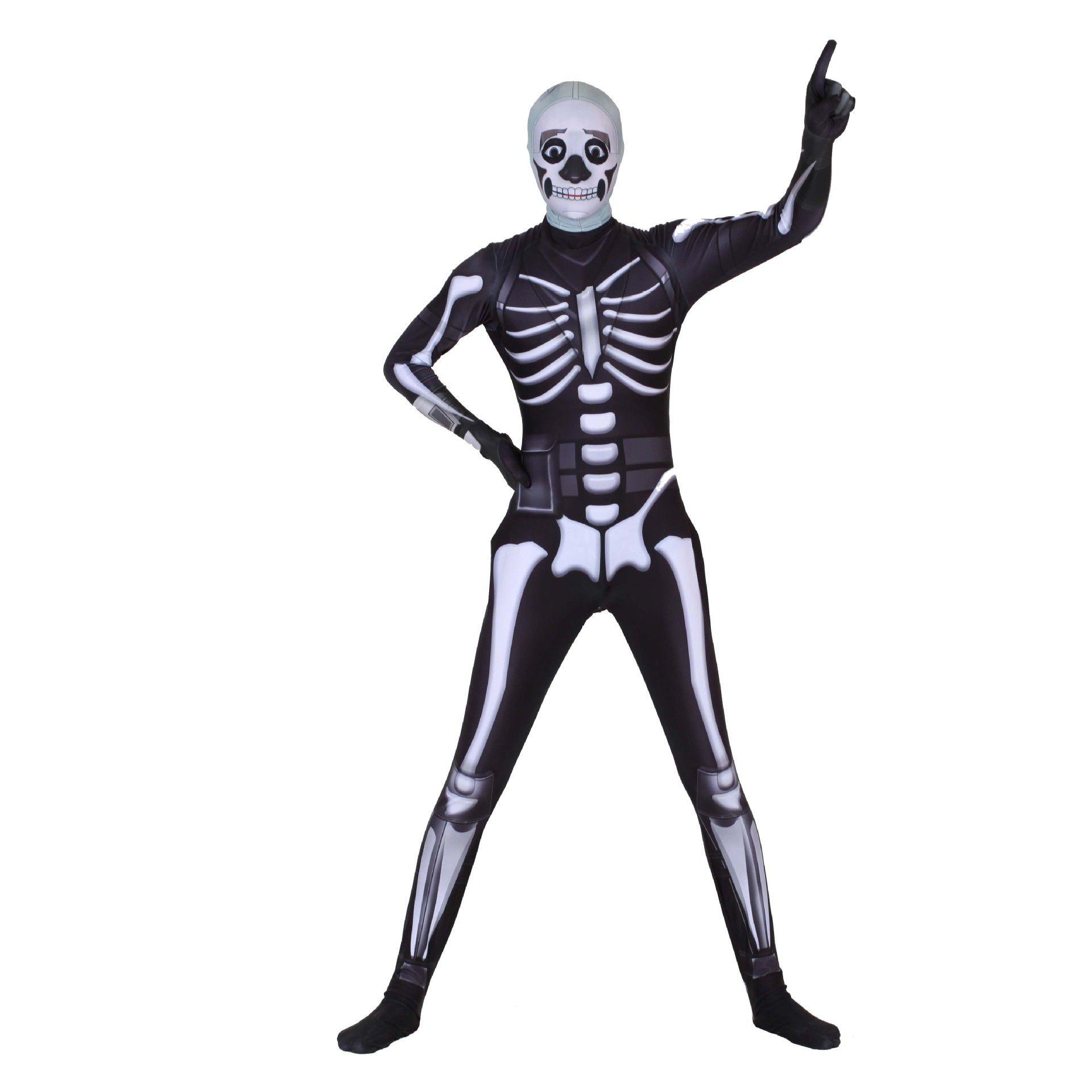 Cosplay ghost face warrior skull trooper costumes Toddler zipper Lycra Jumpsuits Body suit/mask adult Halloween horror costume men/women