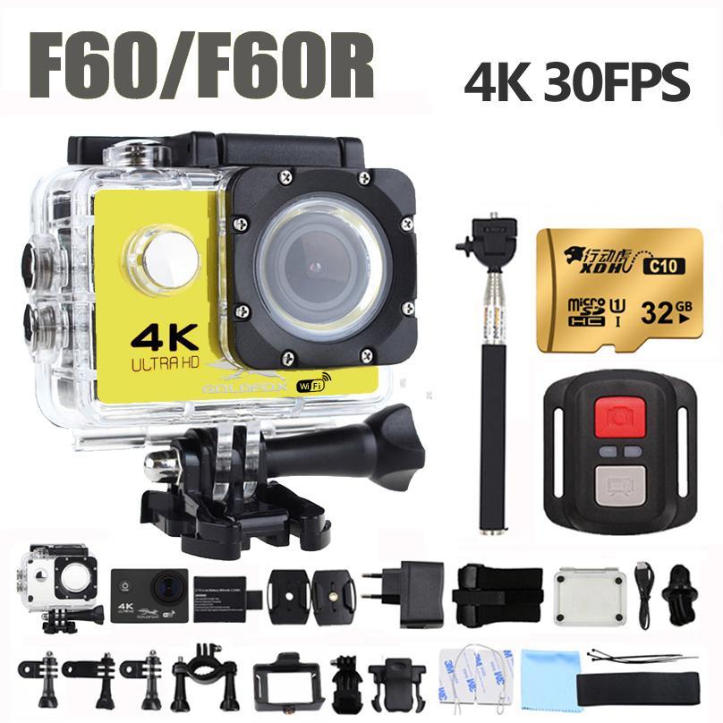 F60/F60R 액션 카메라 4K Ultra HD/30fps16MP170D 넓은 천사 스포츠 DV 가 방수 프로 극단적인 스포츠 비디오 자전거 헬멧 카메라