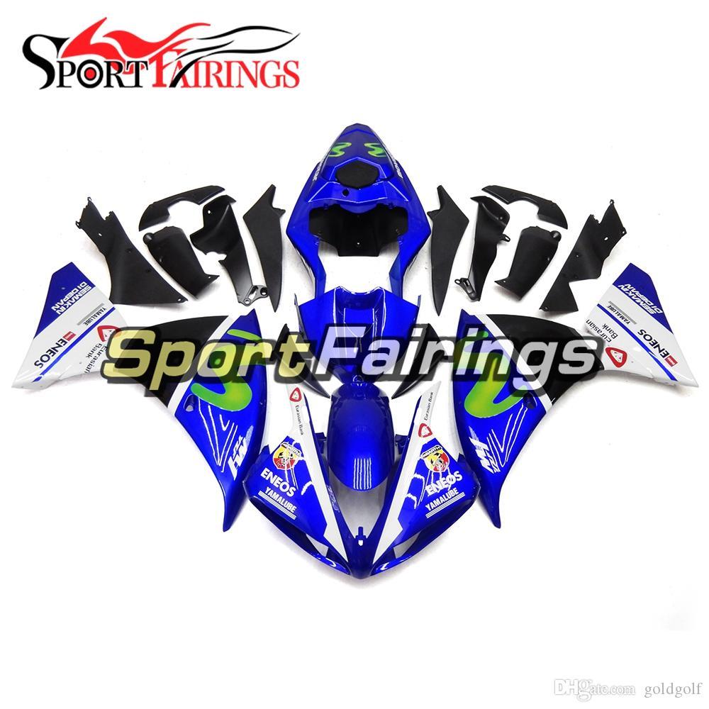 Gloss Blue White Full Motorcycles Fairing Kit For Yamaha YZF1000 R1 09 10 11 2009 2010 2011 ABS Plastic Motorcycle Body Kits Bodywork New