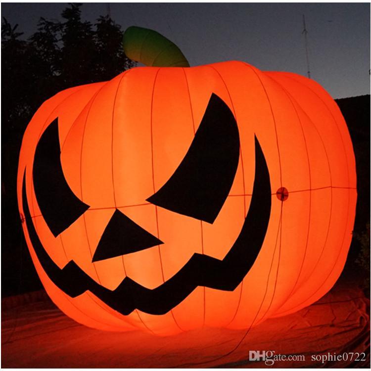 Grosshandel Riesiger Aufblasbarer 5m Kurbis Mit Led Lichtern Fur Halloween Dekoration Von Sophie0722 697 67 Auf De Dhgate Com Dhgate