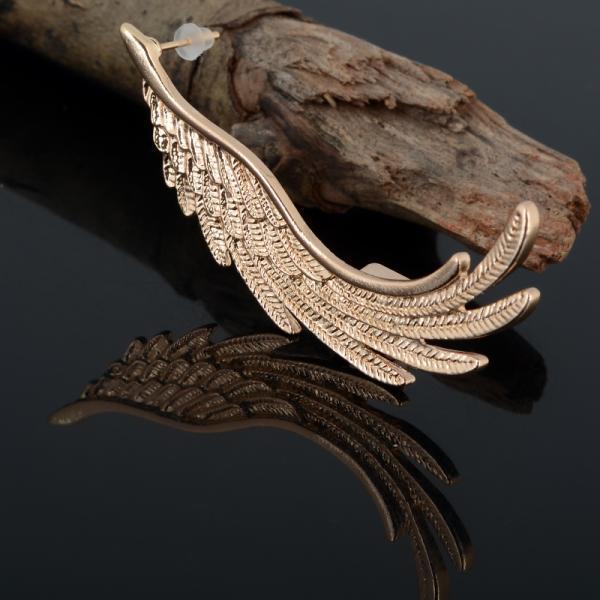 Moda alta qualità punk oro angelo ala orecchio polsino clip per le donne orecchini gioielli