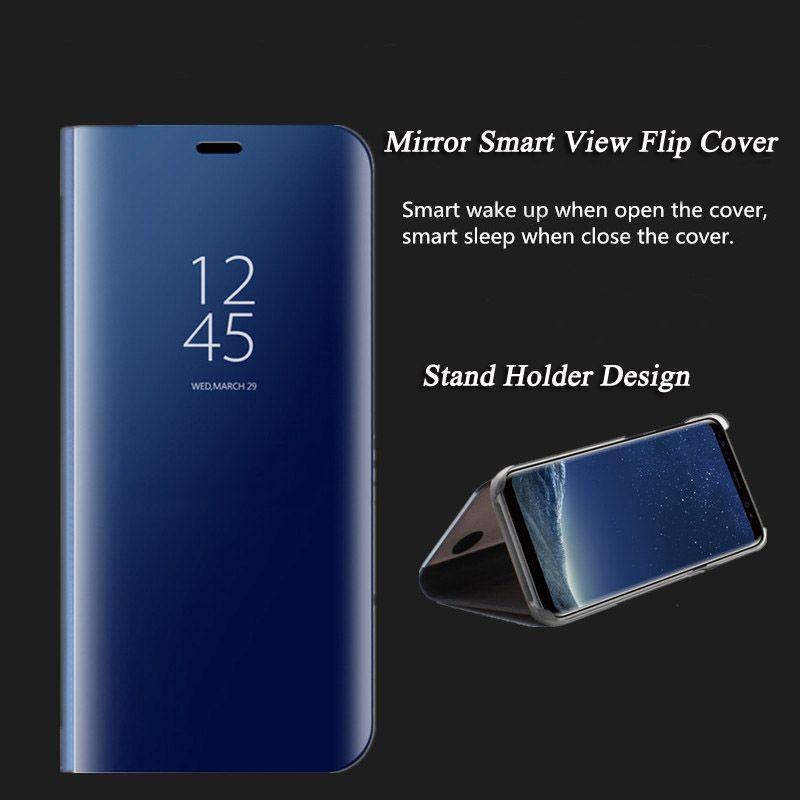 Pour iphone XS Max Coque Miroir Vue Flip Smart Sleep Couverture En Cuir Pour iphoneXR X XS 8 Plus 7 Plus 6s Plus Couverture