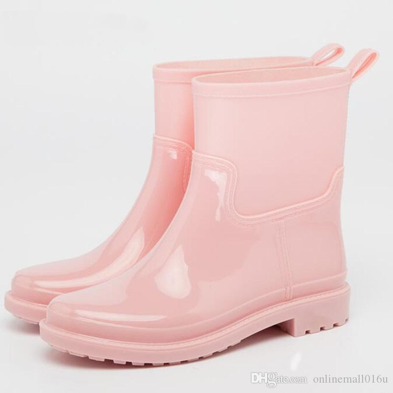2020 New Fashion Ankle Rain Boots Women
