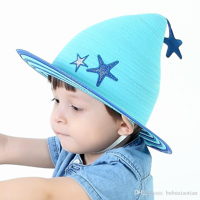 2018 Brand New And Fashion Cute And Stylish Baby Summer Hat With a Amall Five-pointed Star Design