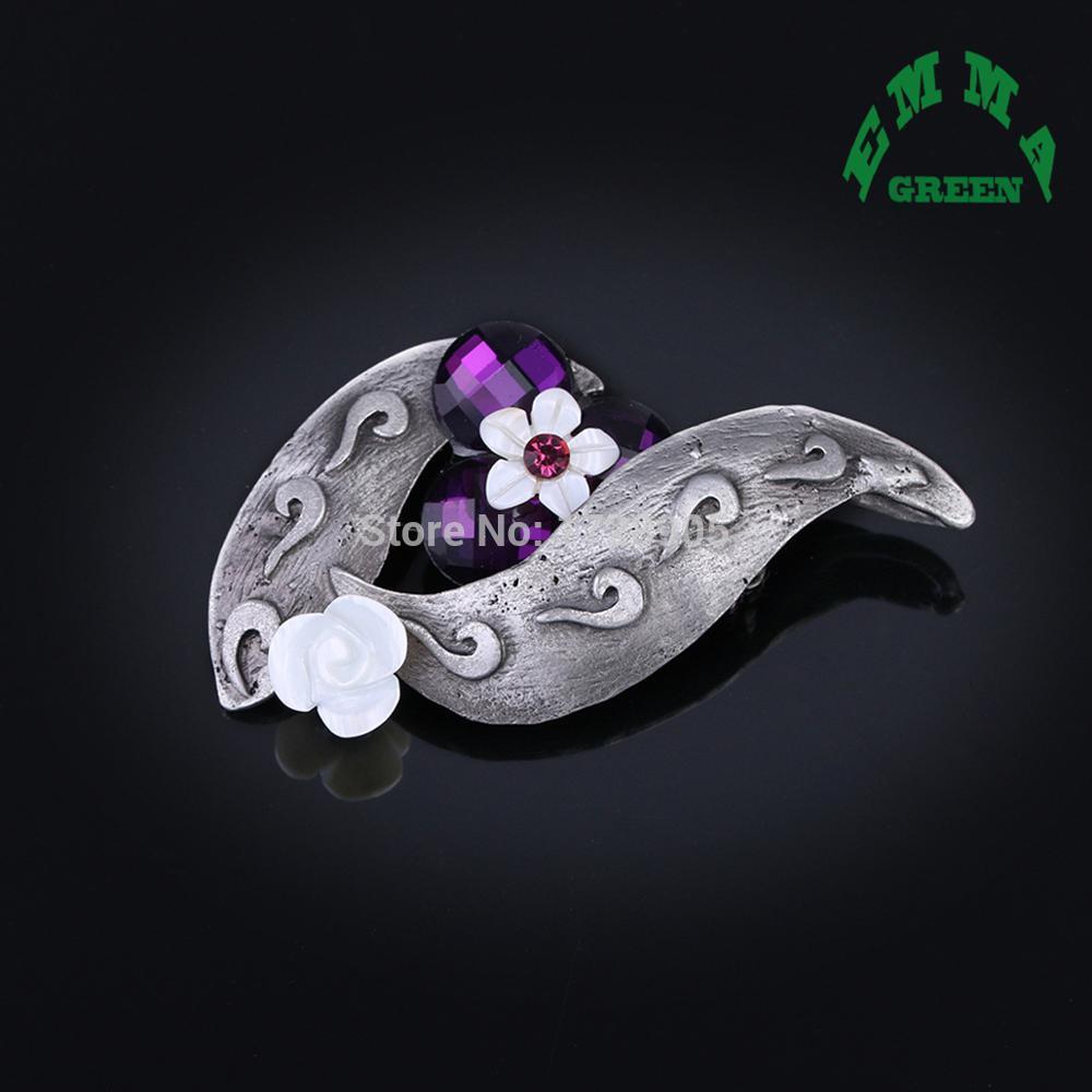 Очаровательный Китай благоприятный облако броши свадебный воротник цветок брошь булавки горный хрусталь Кристалл шарф клип старинные женщин ювелирные изделия