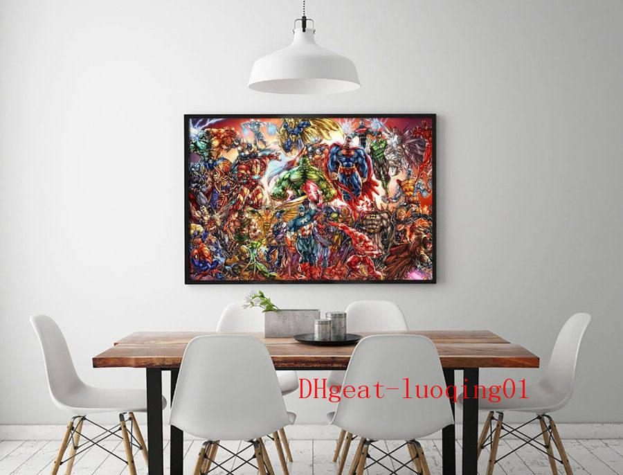 DC Universe Marvel Comics Painting HD Canvas Print Home Decor Wall Art 16X24/""