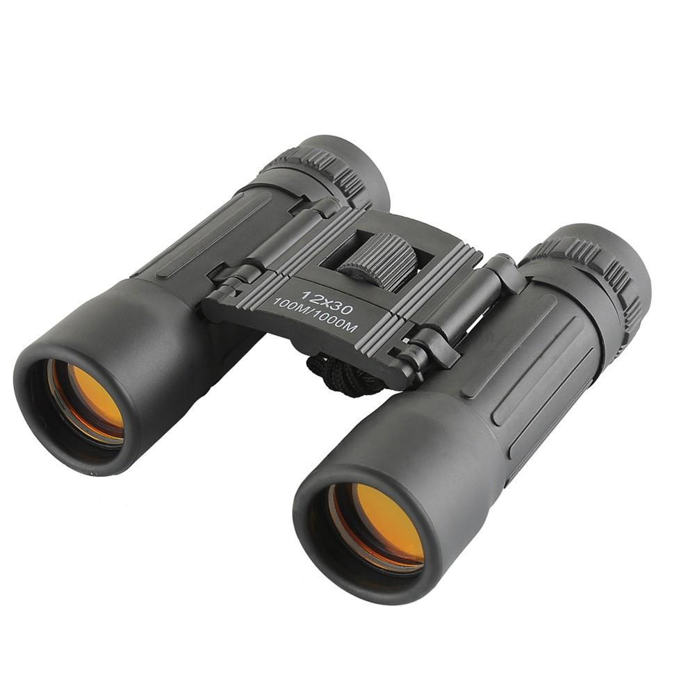 H12595 12X30 96/1000m Mini Sports Optics Binocular Telescope Spotting Scope for Hunting Camping Hiking