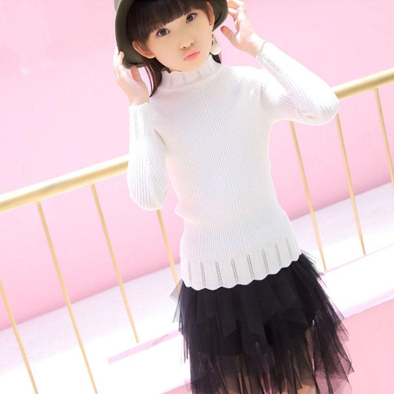 Knit Big Girls Winter Clothing Autumn Children\u0027S Sweater Girls Clothes 9 10  14 15 6 Years Knitted Baby Sweater Long Sleeve Tops Hand Knitted Sweaters