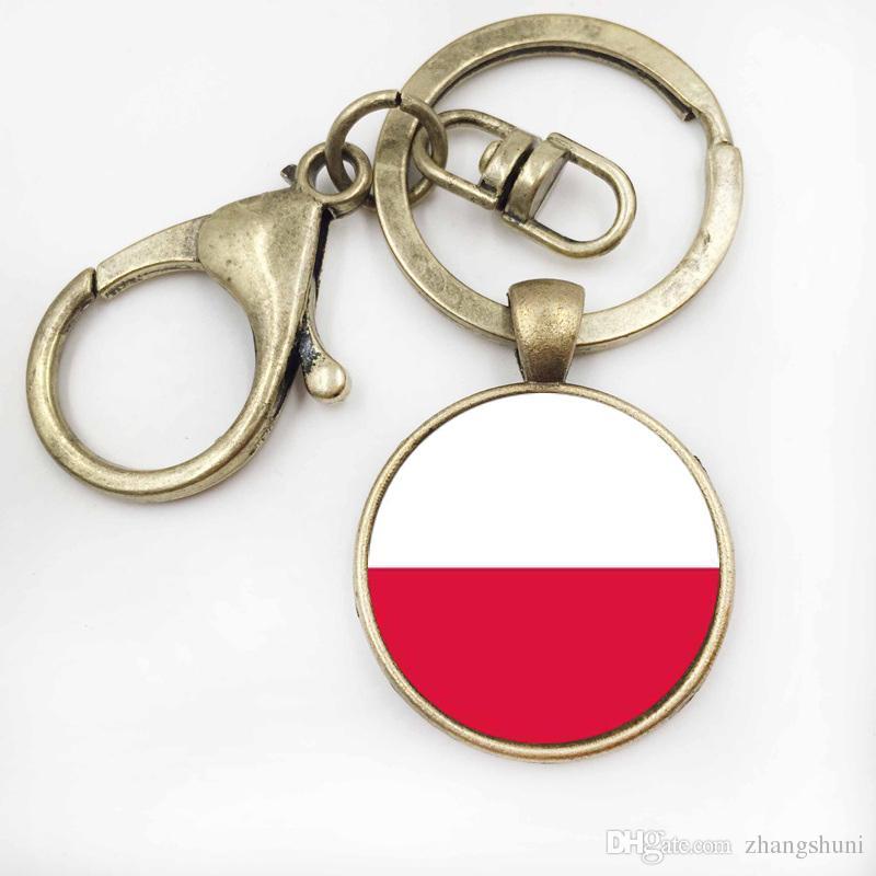 Bosnie-Herzégovine Drapeau Hommes De Voiture Porte-clés Bijoux Verre Porte-clés Femmes Sac À Main Porte-clés Accessoires
