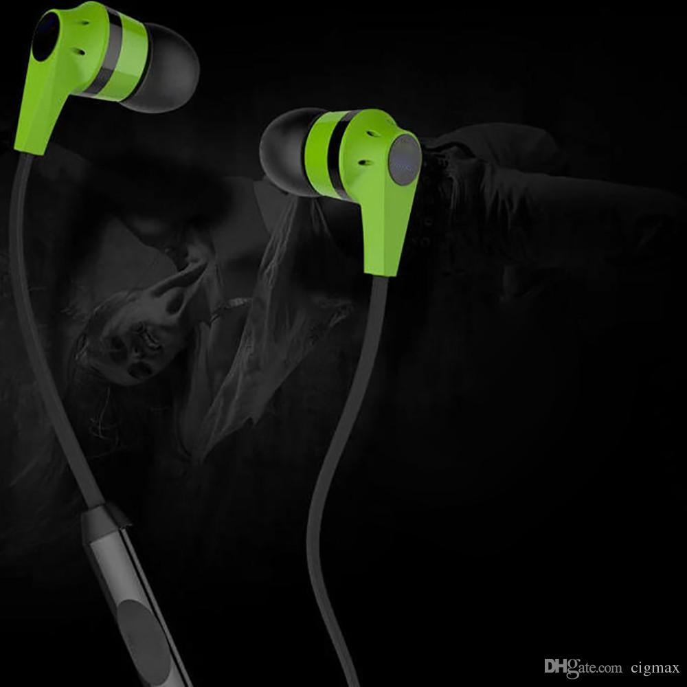 3.5mm per cuffie Bass auricolare stereo con il MIC in-ear telefoni ear Headset colorato di qualità per il telefono
